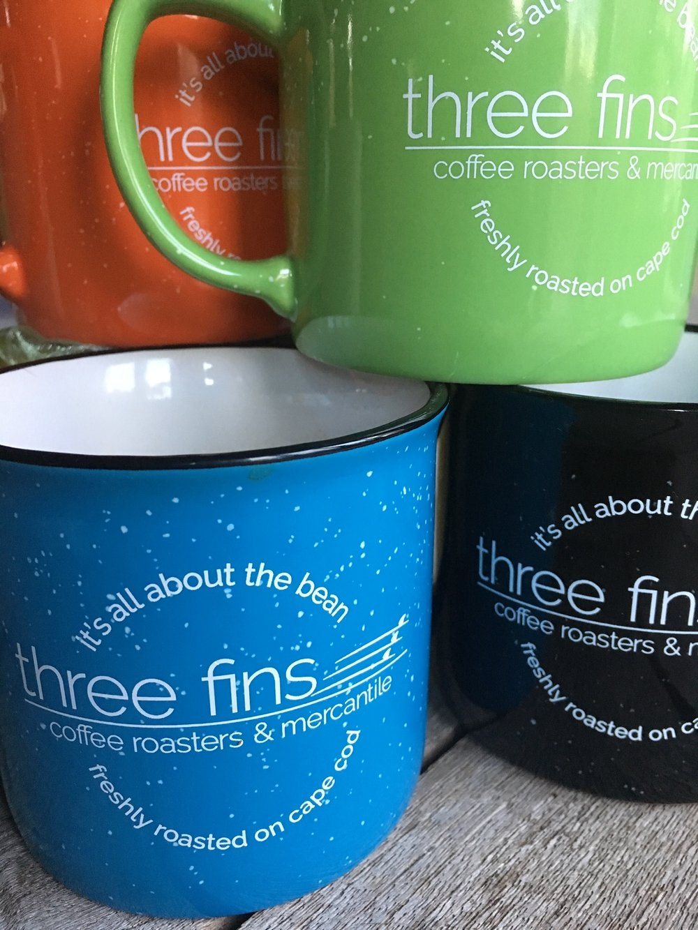 three fins camper style mugs $9.75