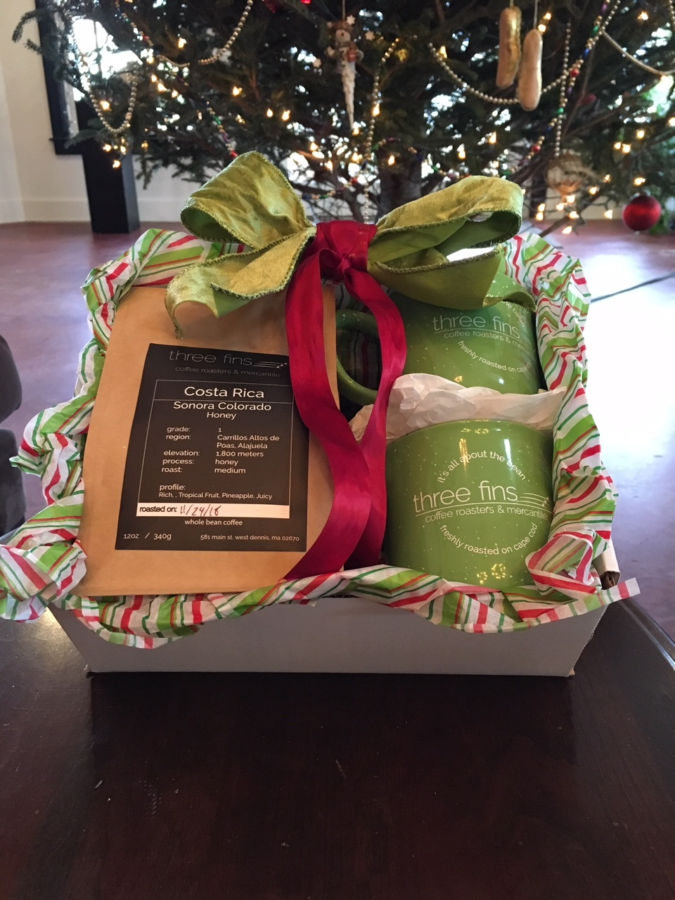 Mix & Match Gift Box $42 includes 2 bags of beans + 2 camper style mugs!