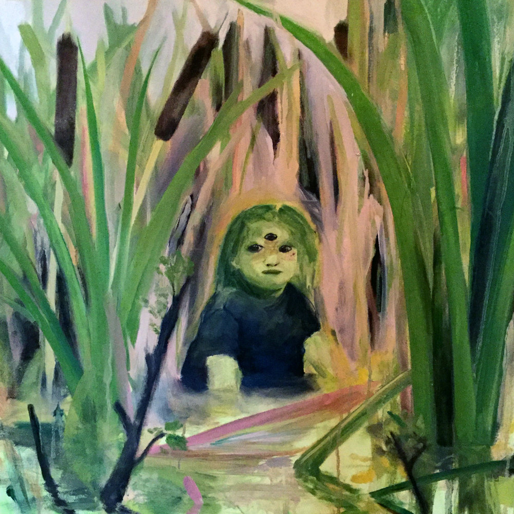 The Swamp is a Strange Place  2018  3x3 feet