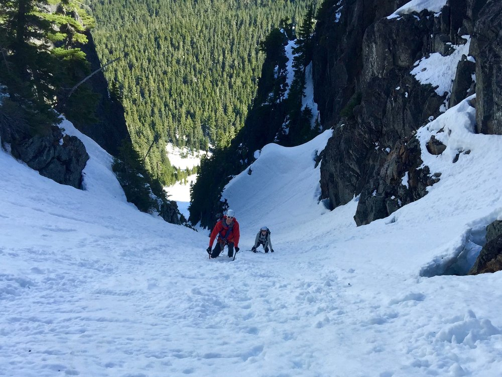 The two of us in the couloir