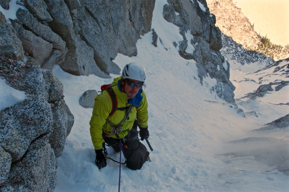 """Dale says """"hey, girl"""" near the mixed crux"""