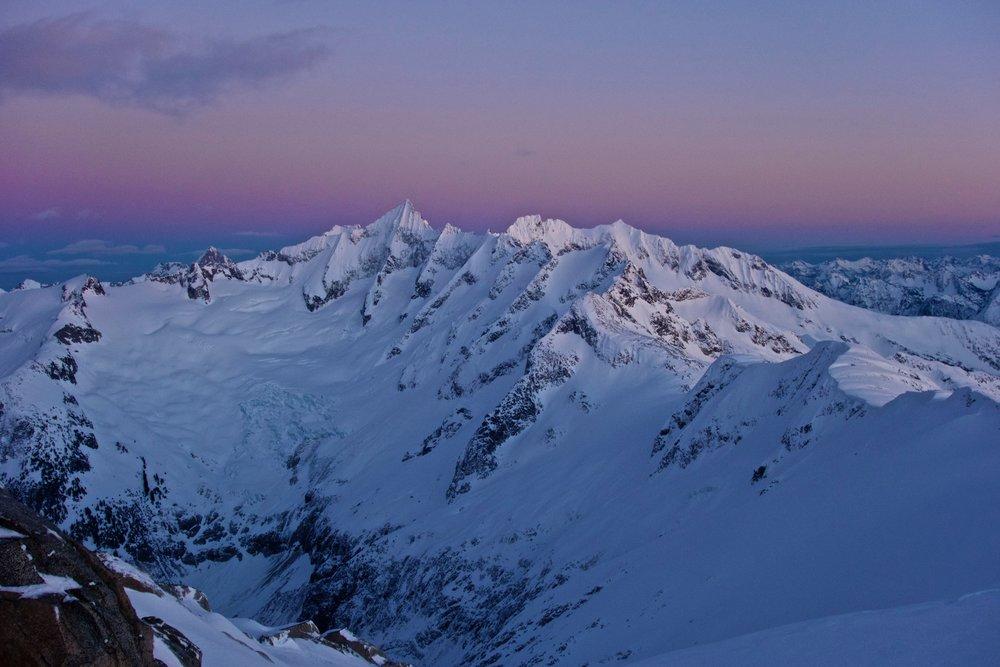 Sunset on Forbidden Peak