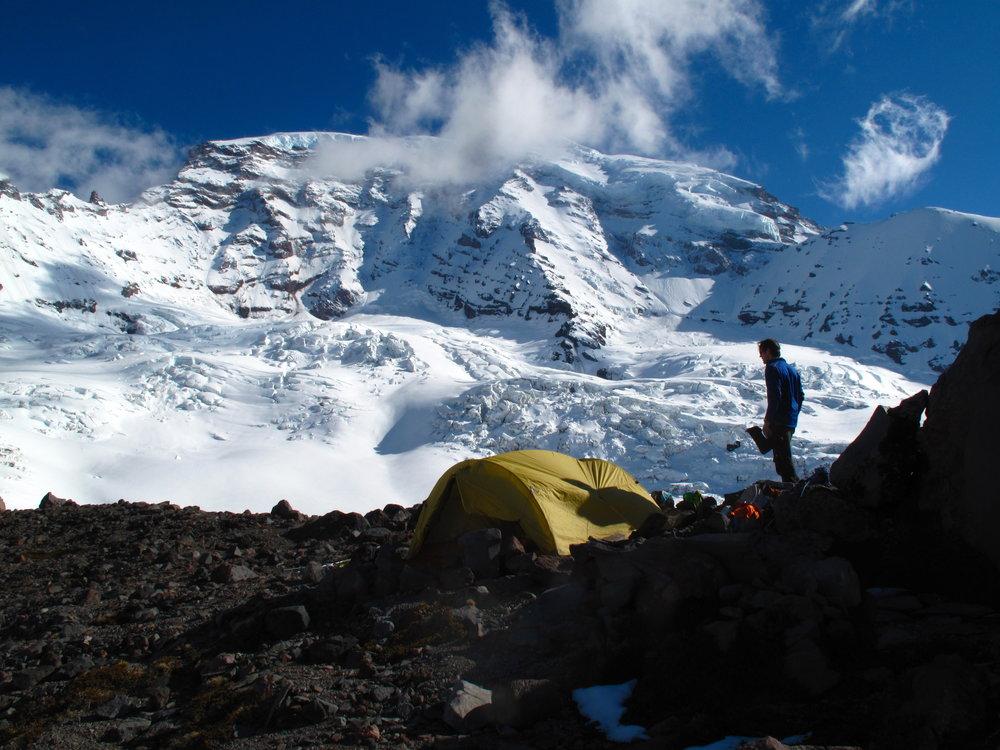 Camp on Curtis Ridge