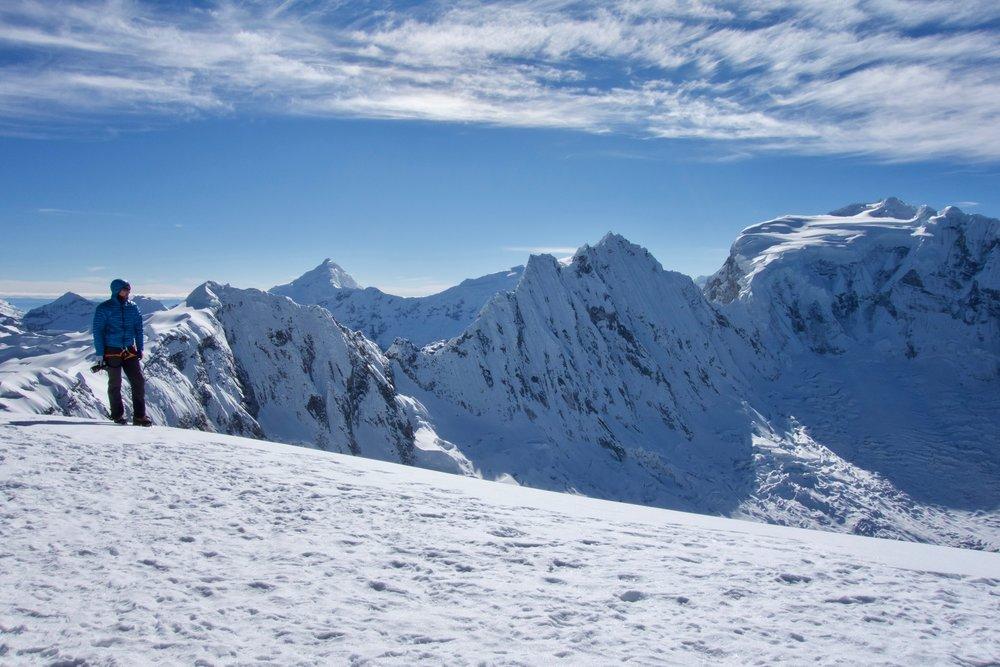 Summit views of Ocshapalca and Ranrapalca