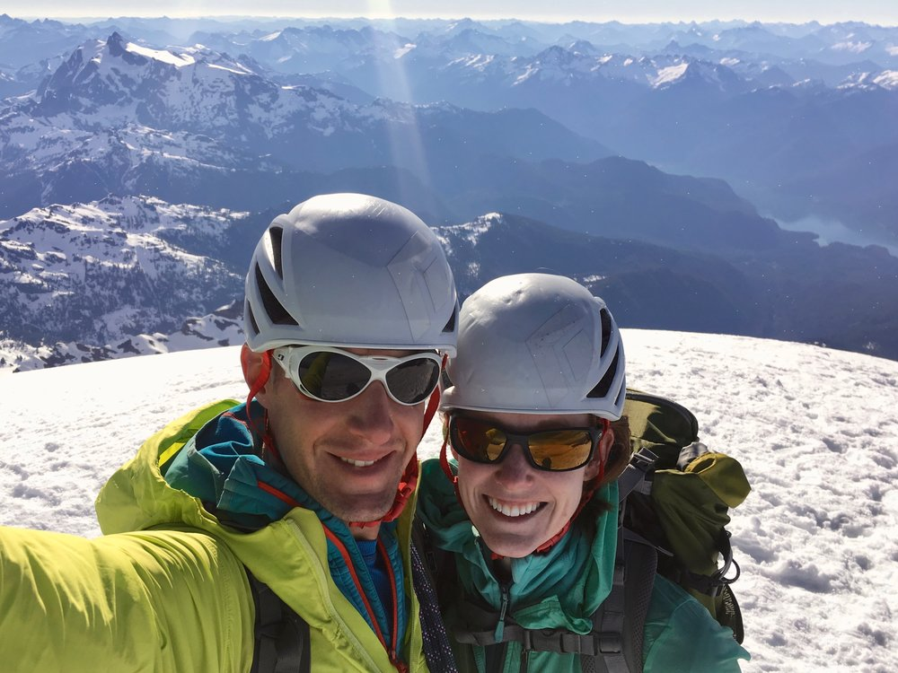 Enjoying the summit views