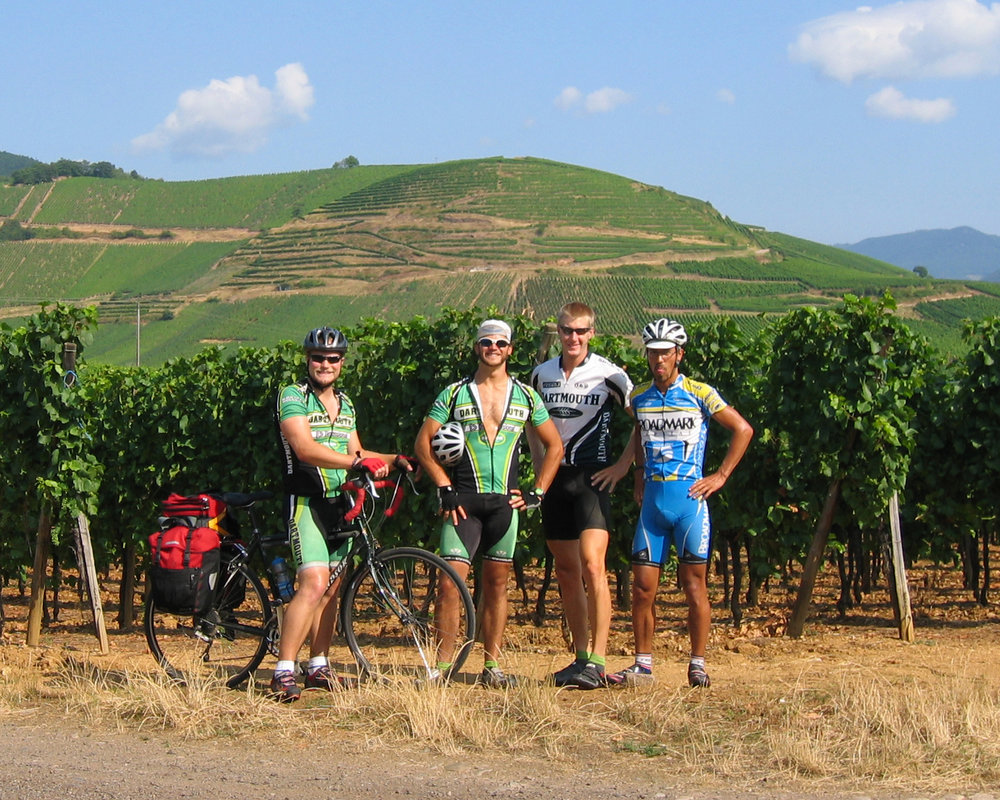 Enjoying the Alsace wine region on the border of France and Germany