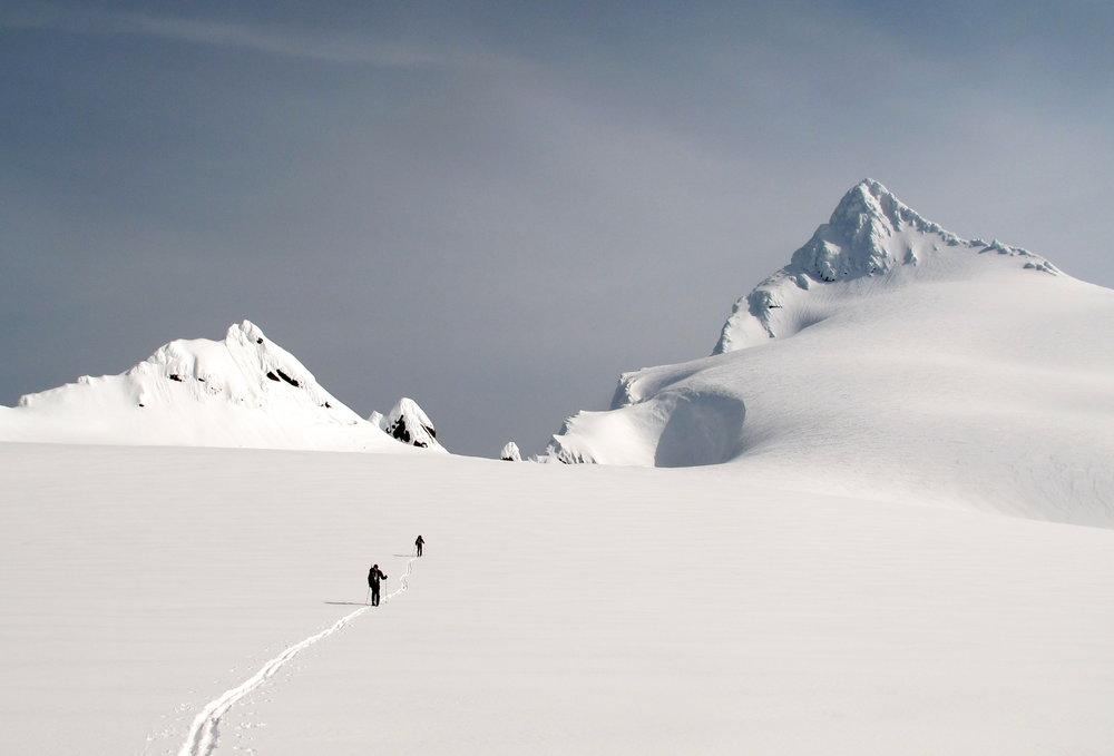 Heading toward the summit pyramid