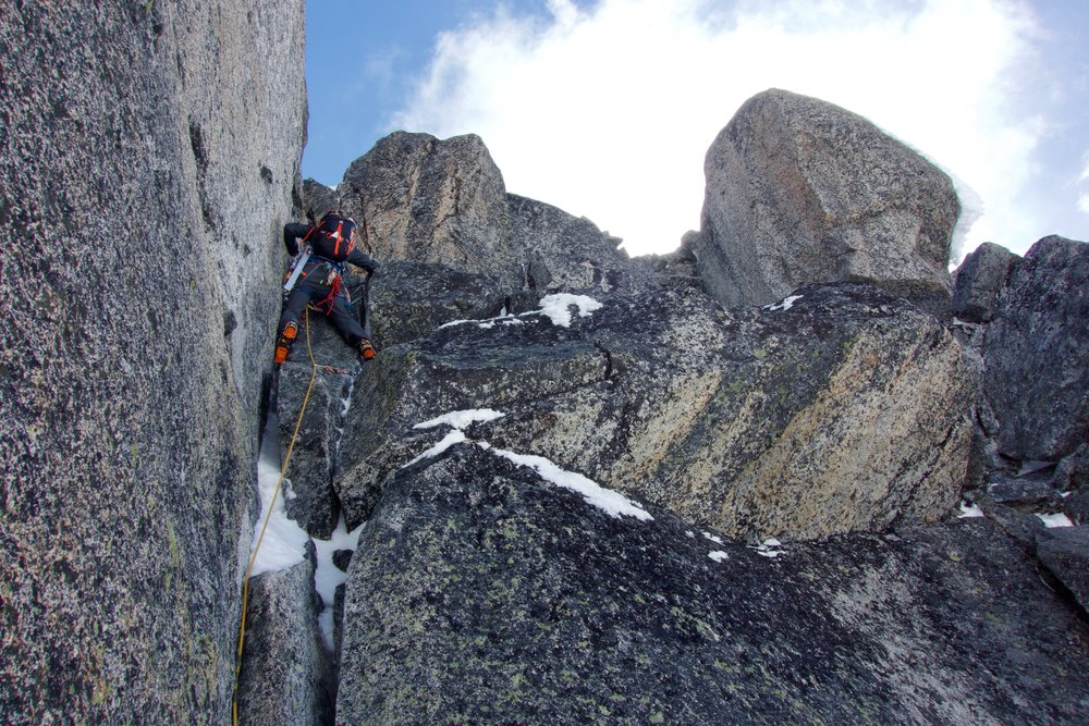 West Ridge mixed climbing