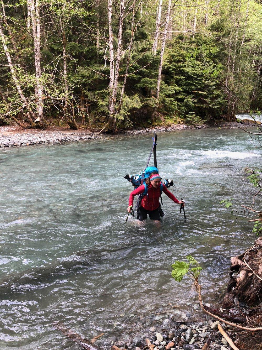 Kelsey fording Ruth Creek