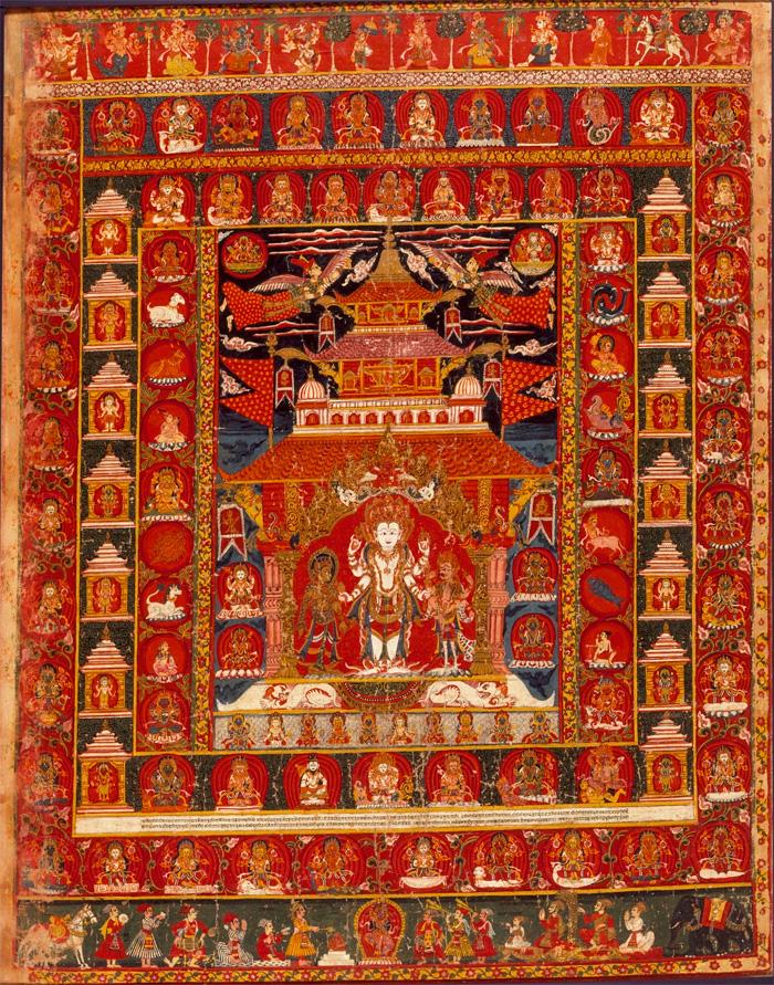 Paubha :  Nepal, Bhaktapur. Mandala of Vishnu. 1681. LACMA
