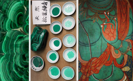 center image: shades of malachite, Ueba Esou, Kyoto - by Adrien