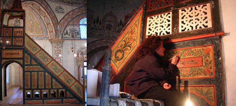Au service de l' UNESCO : Chantier de restauration, Hadum Mosquée, Gjalova Kossovo