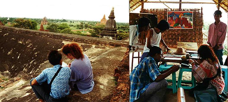 En Birmanie, de peintres en peintres - Pagan