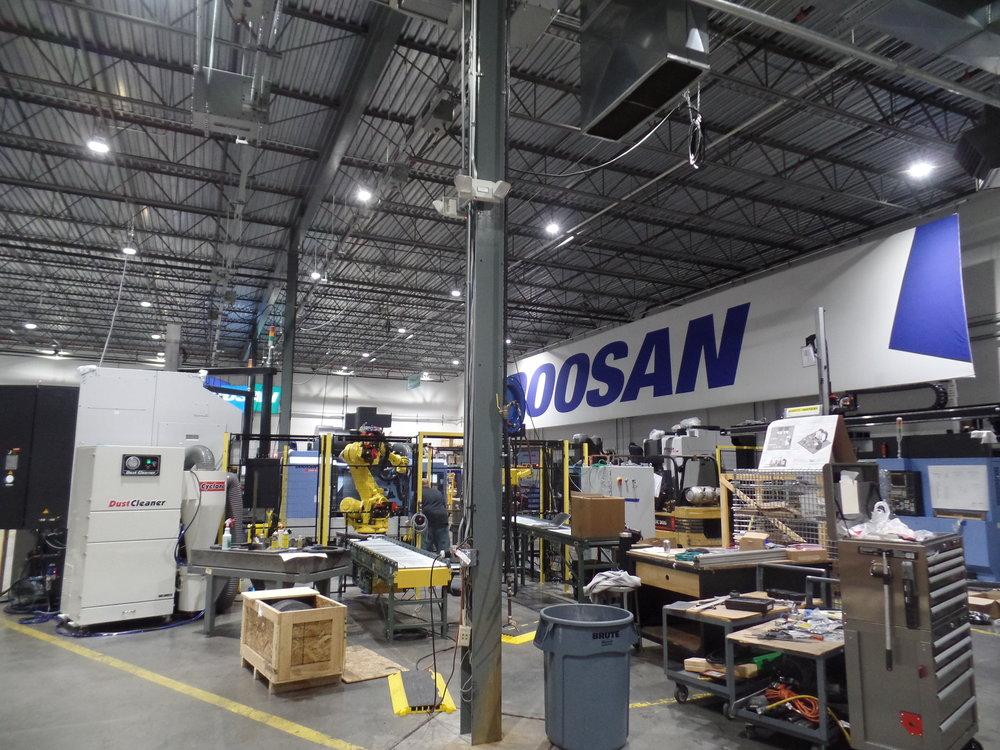 Doosan LED Lighting Upgrade - Albright Energy Solutions - Albright Electric Mahwah NJ