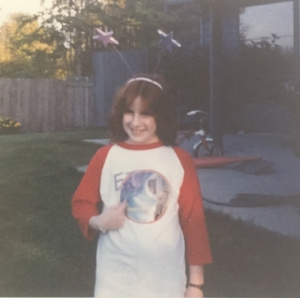 I think this was 1981? I must have been 10 years old. In the backyard of our house in Redmond, washington where I spent my formative years. i still have dreams that take place in that house.