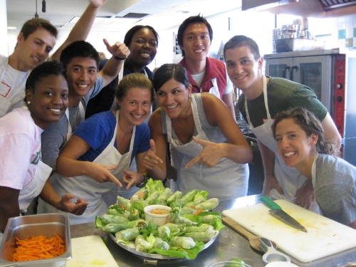 "How cute are my students? This was from our ""how to teach cooking"" class at ICE."