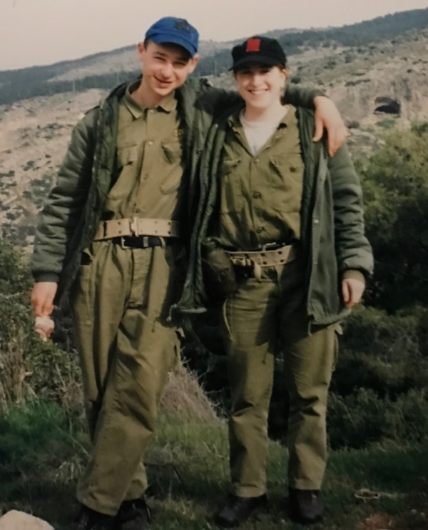 One of our trips from kibbutz was pretending to be part of the army for a couple of days. It was supposed to be tough but for a couple of chefs, it wasn't a big deal.
