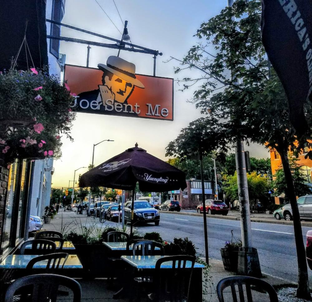 Joe Sent Me - Speakeasy-themed neighborhood bar with beer, pub grub, trivia nights, games on TV & sidewalk tables.