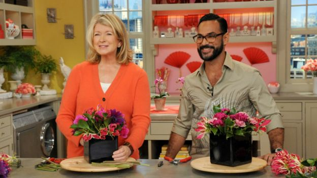 The Venezuelan florist became a regular guest on Martha Stewart's show. -