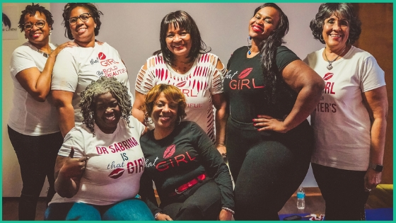 Standing Left to Right; Theresa O'Bryant, Jessica Lyons, Dr. Jan Cardwell, Natasha Lee, Barbra Gentry-Pugh. Sitting Left to Right; Dr. Sabrina Jackson, Kyra Jefferson