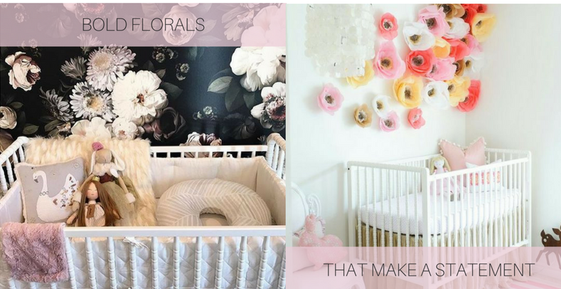 Images via Pinterest:  Floral Wallpaper  and  Crepe Paper Flowers