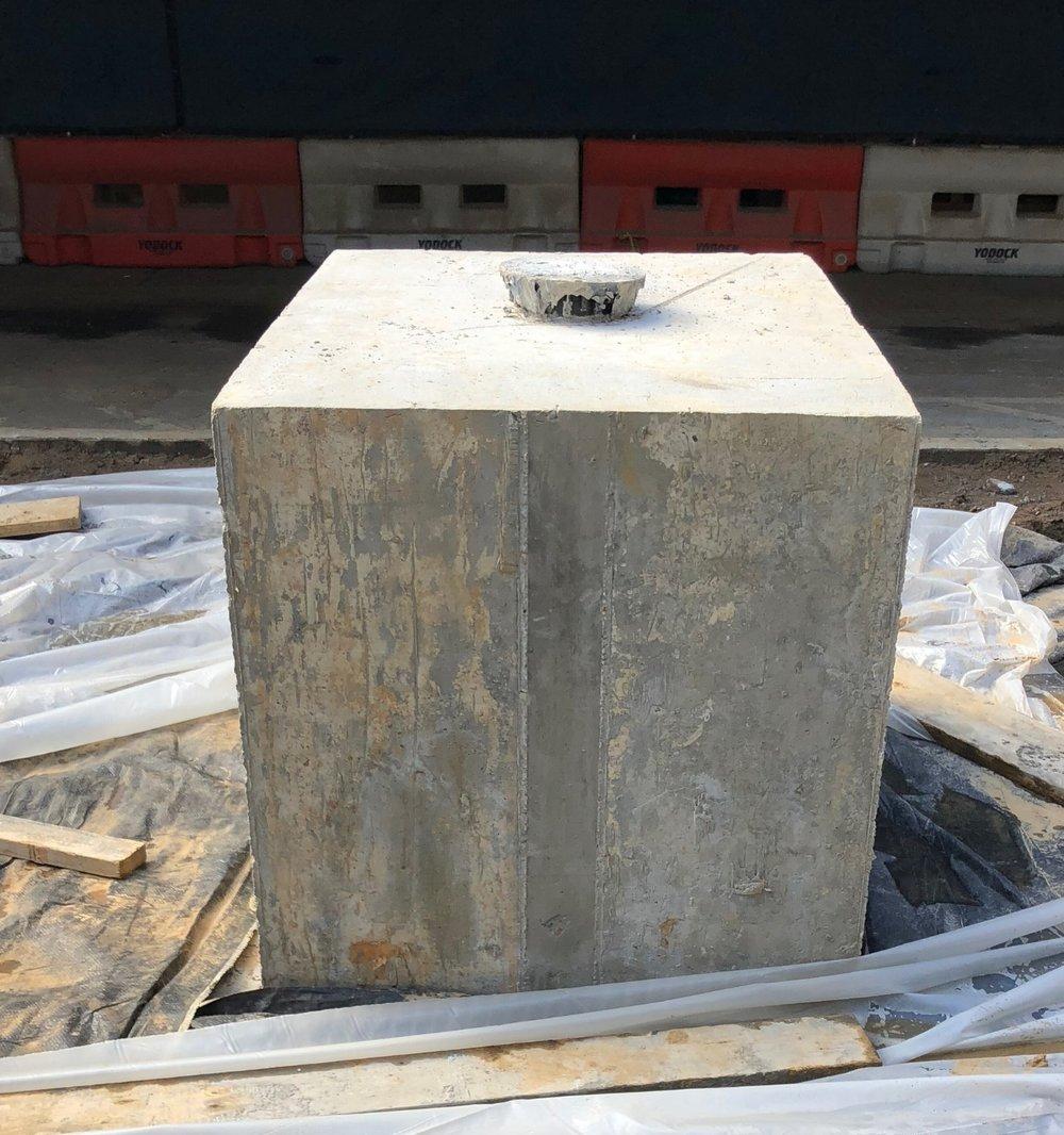 Center pedestal pre limestone veneer wrap