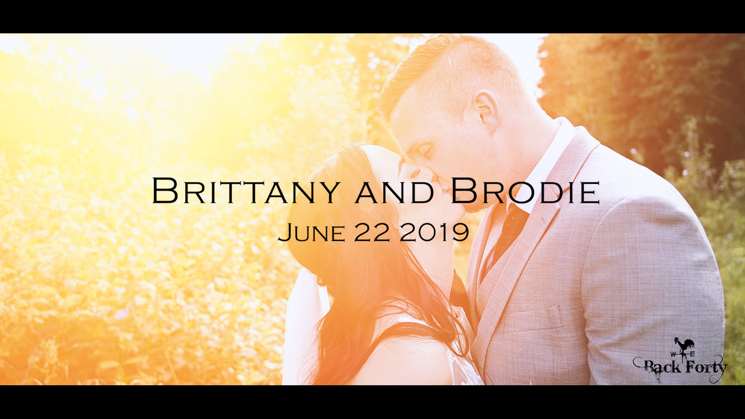 Brittany And Brodie Amazing Vows Amazing Sweetheart Letters Amazing Couple 0 Back Forty