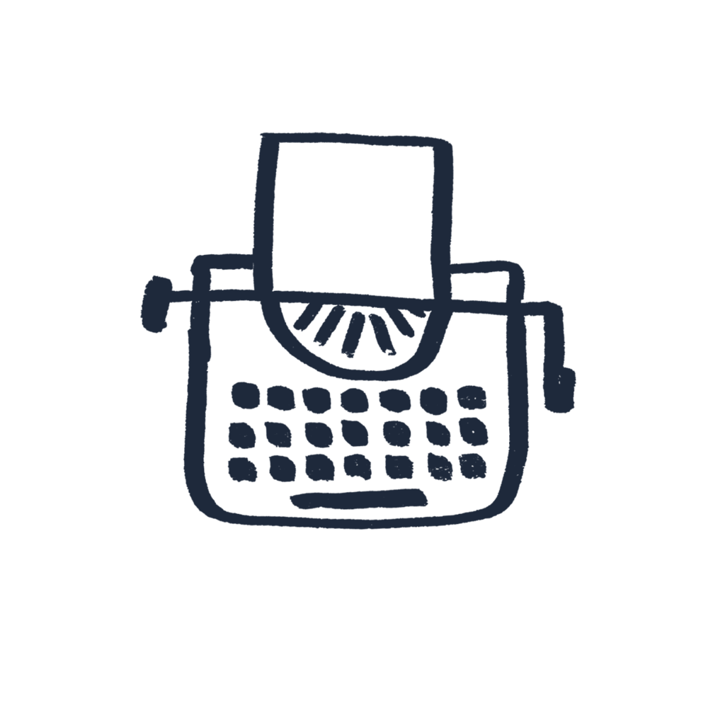 JHC Big Typewriter Icon - Navy #1E293B.png