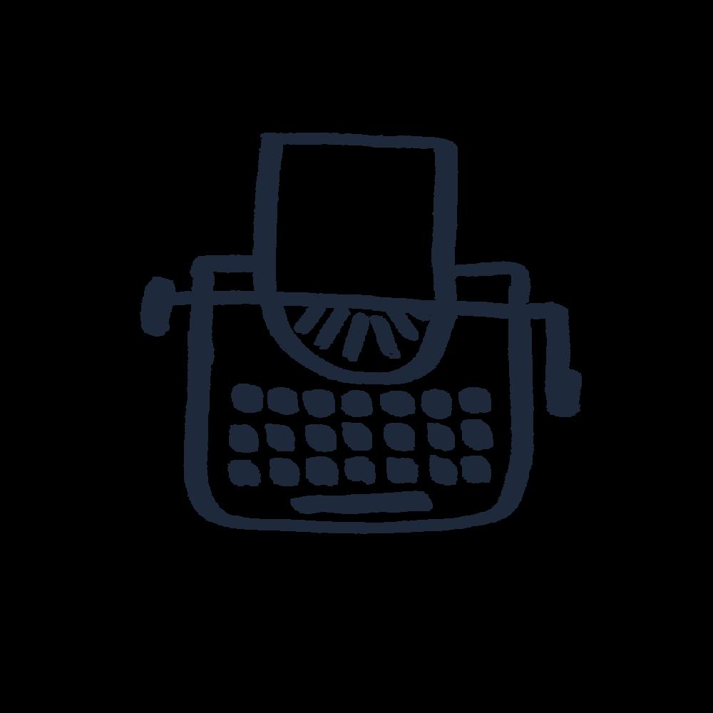 JHC Big Typewriter Icon - Navy #1E293B.png