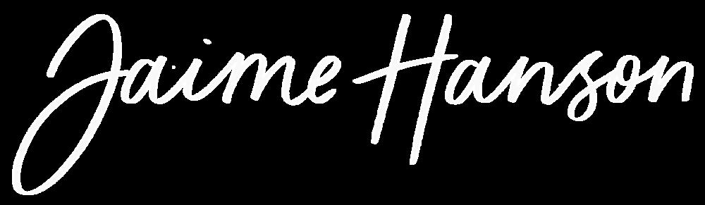 Jaime Hanson Logo Horizontal - White