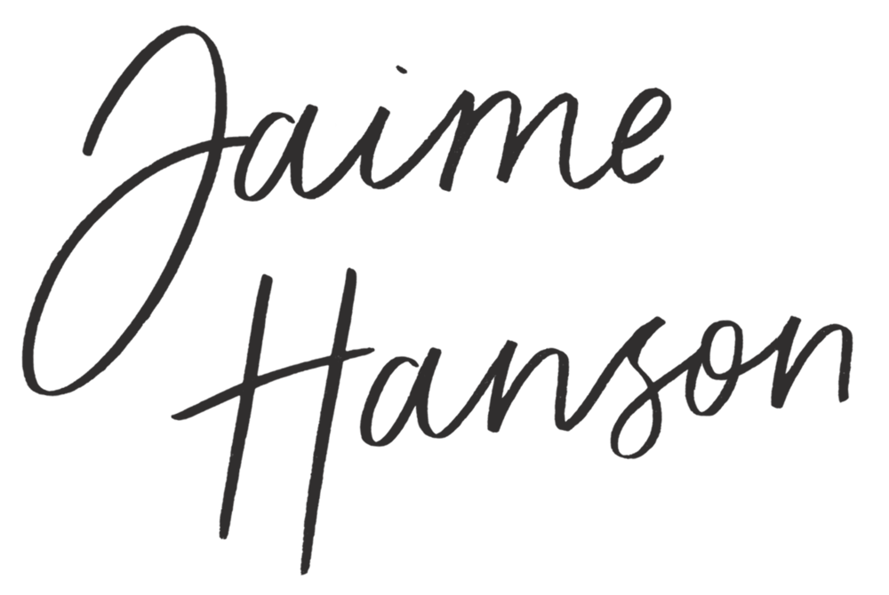 Jaime Hanson Signature Stacked - Black