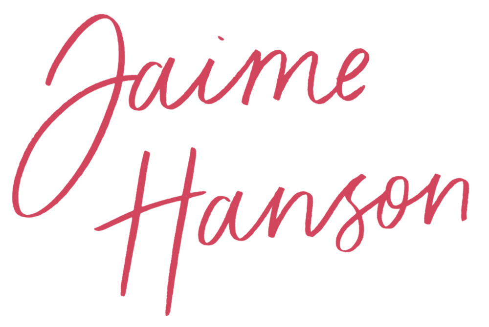 Jaime Hanson Signature Stacked - Pink