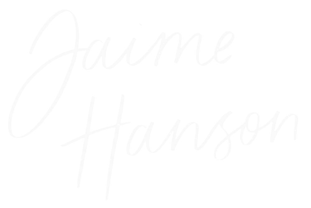 Jaime Hanson Signature Stacked - White