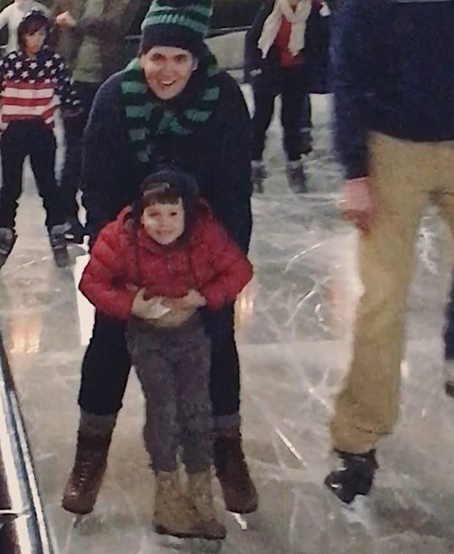 Learning to ice skate (kind of) on the National Mall. Every memory we make together makes my heart swell again and again ❤️⛸❄️