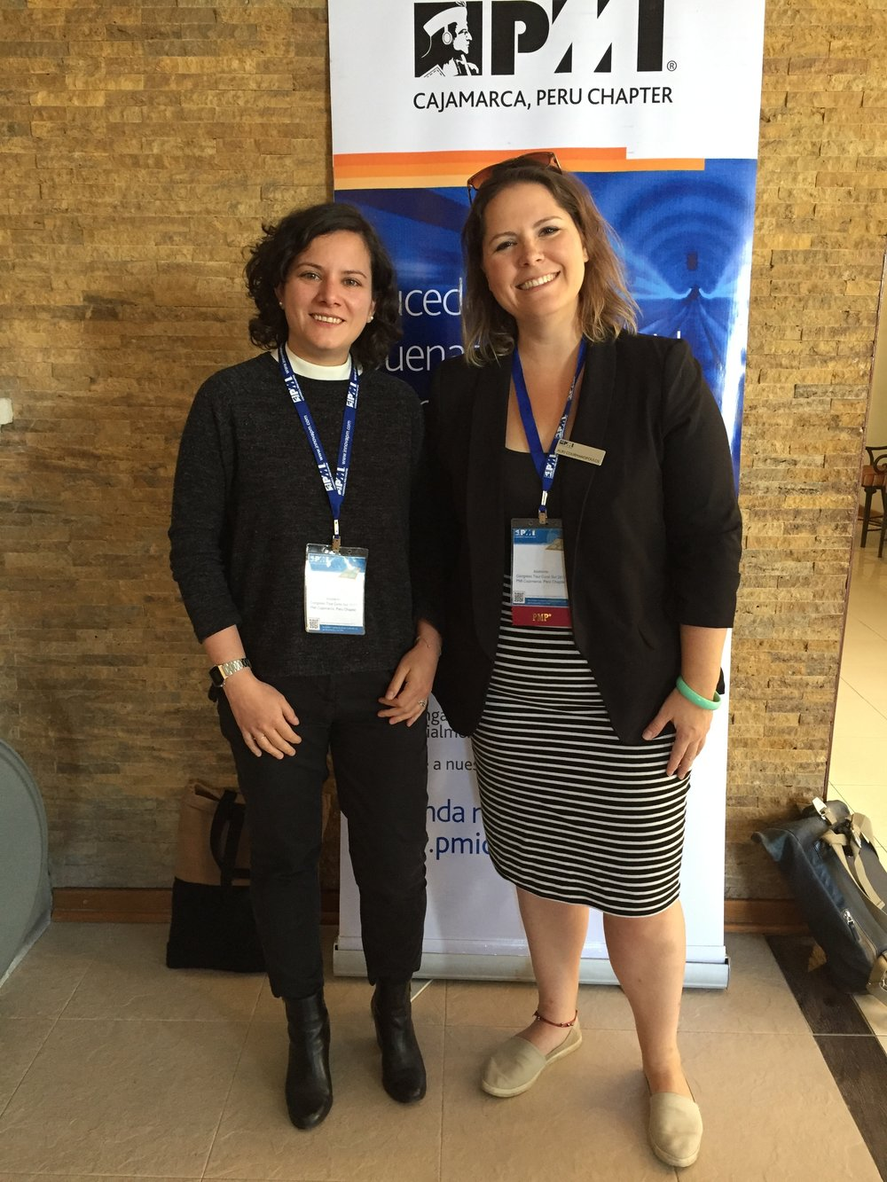 Left to right: Mercedes Urbina and Aliki Courmanopoulos