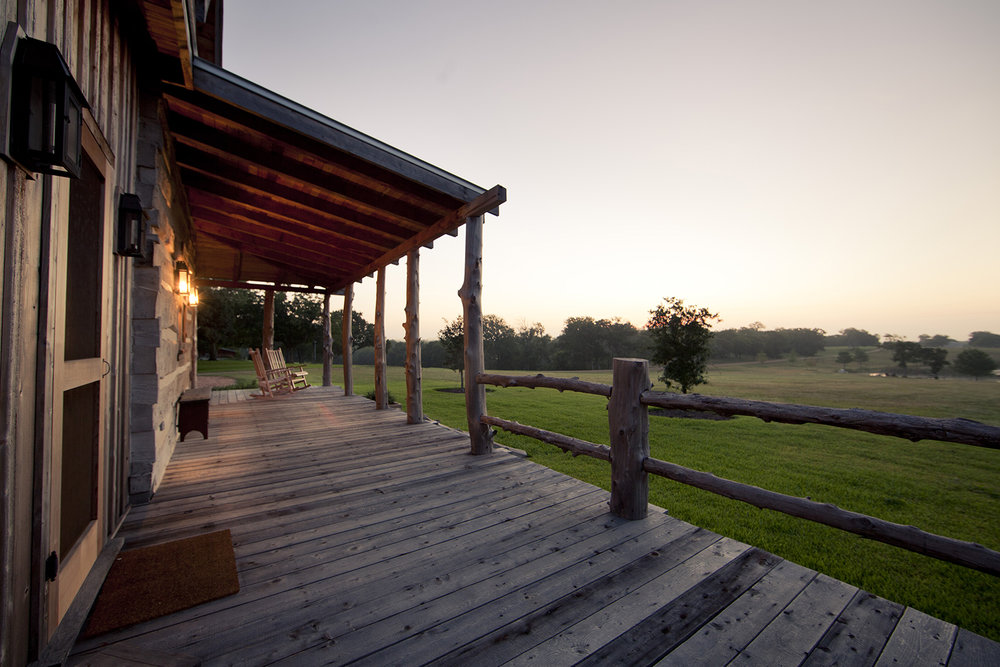 One of the best spots on the farm to enjoy some coffee in the morning or unwind with some wine in the evening.
