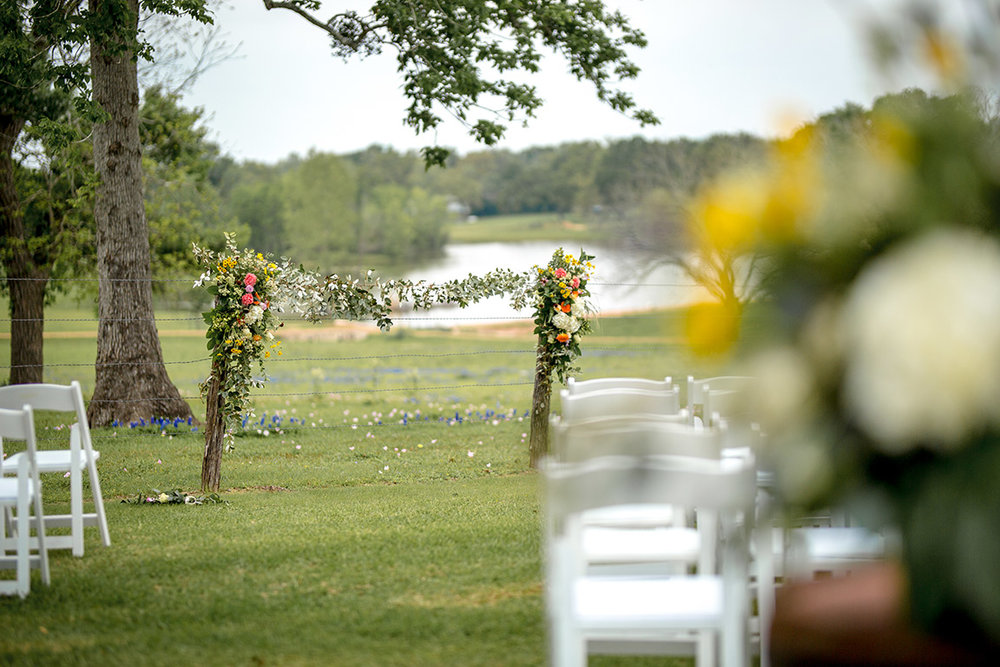 Ceremony by the flowers