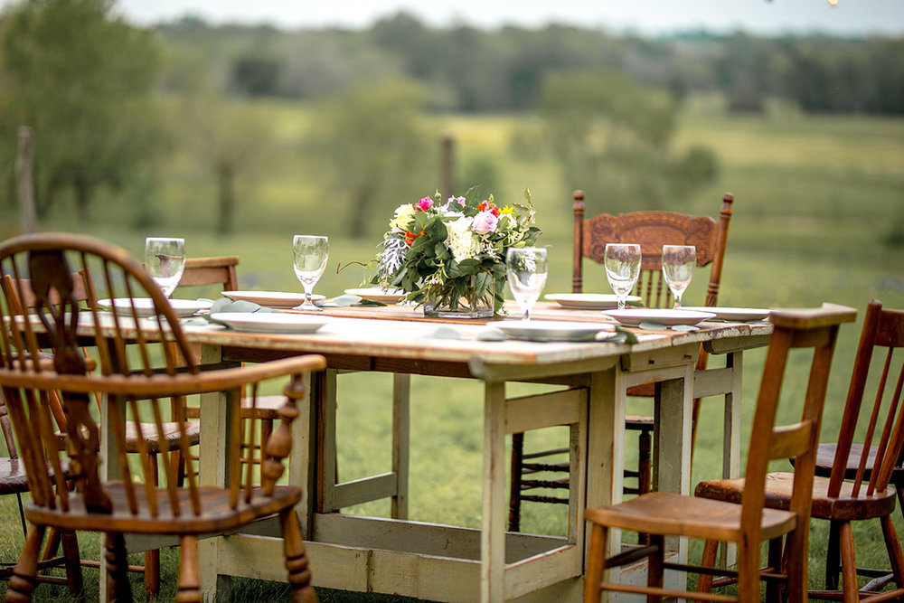 Country farm table