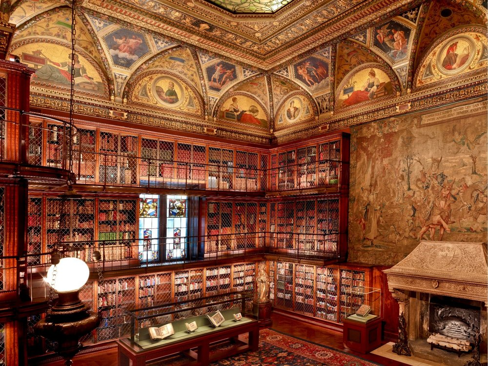 Morgan Library & Museum Murray Hill, New York 2010 McKim Building Renovation - E. Pierce with Renfro Design Group, Inc. 2017 McKim East Room Library- Supplemental LED Case Lighting - Pierce Lighting Studio