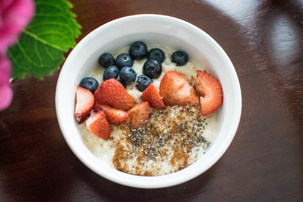 Makeover your breakfast first-- opt for something high in protein and complex carbs to keep you full longer