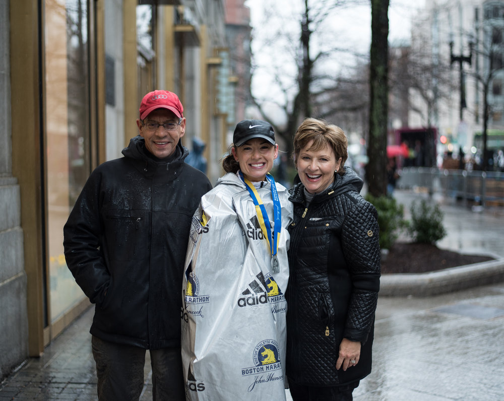 My Dad and Mom woke up at 4 am,  hopped on a plane and made it to my race, treated us to delicious Italian food and then flew back in the same day. They never stopped smiling the whole time and it meant more than I thought for them to be there :) (I kept saying it wasn't a big deal and don't fly up, but I wouldn't trade it for anything)