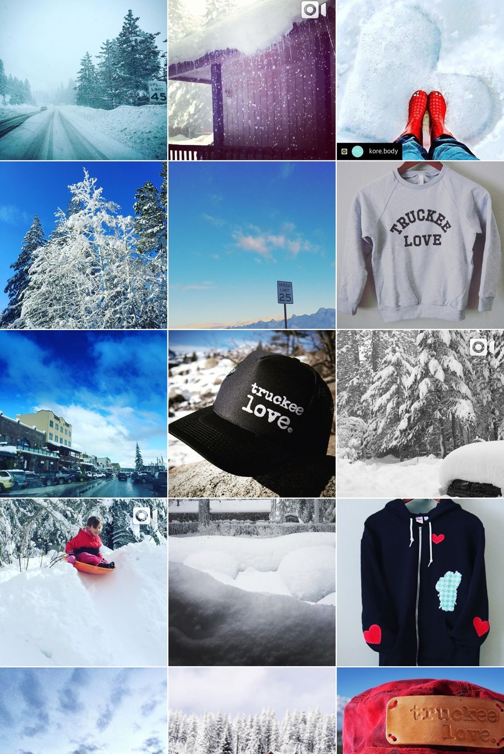 Images from Truckee Love Instagram