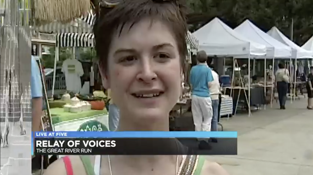 Me ten years ago being interviewed at Pony Fest