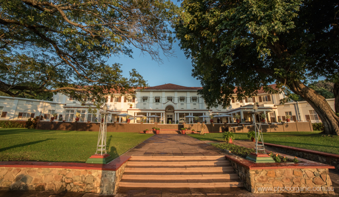 The Huge Grounds of Vic Falls Hotel
