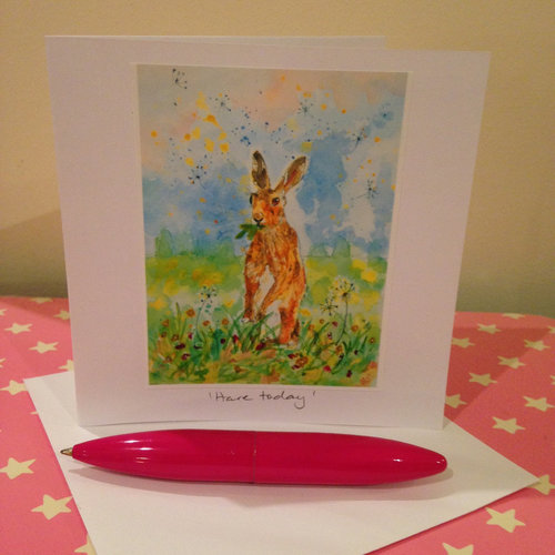 Hare today blank notegreeting card blank notegreeting card m4hsunfo