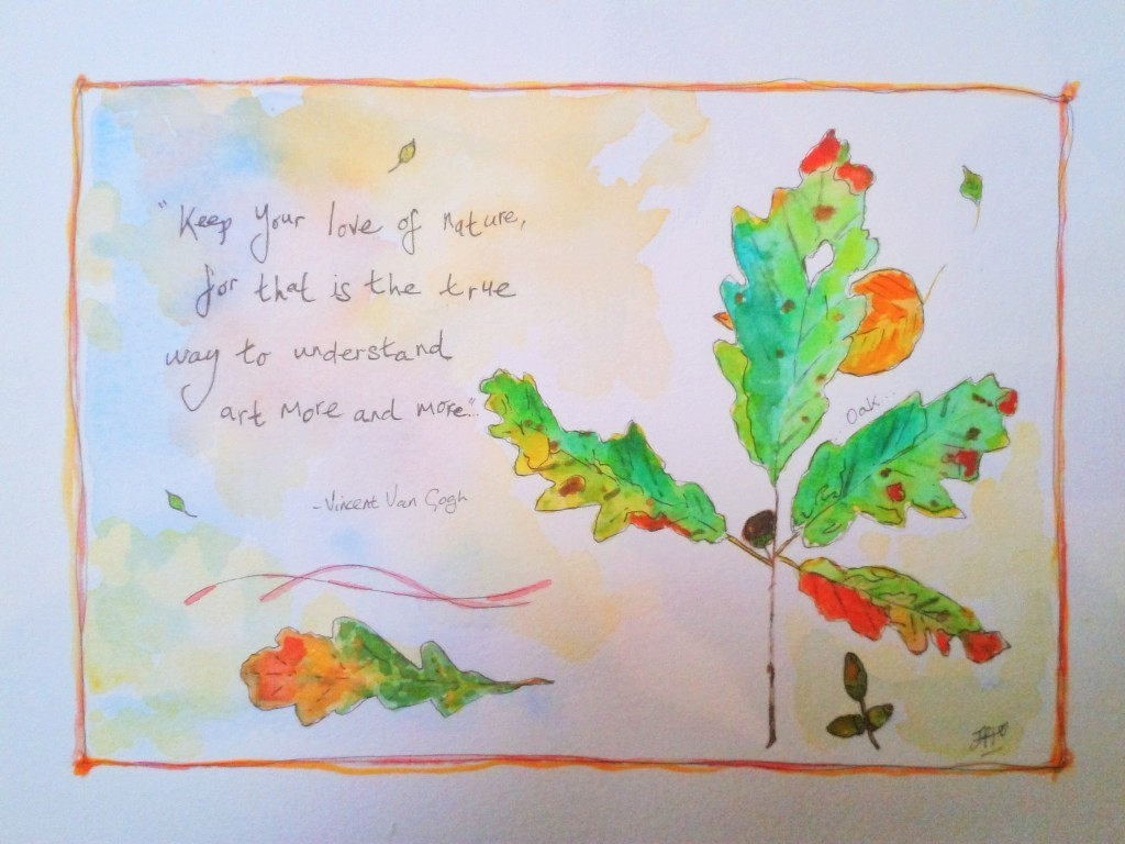 Quote + Oak Leaf