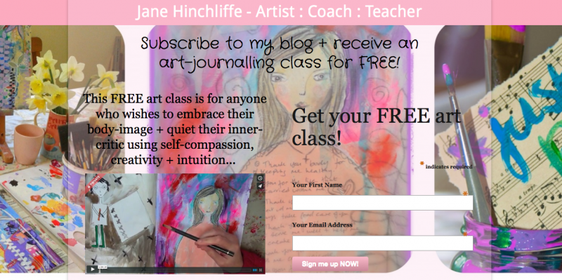 Free Art Journalling Video for Subscribers