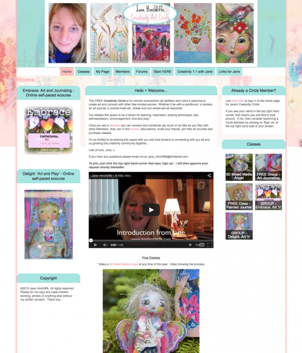 Home - Jane Hinchliffe | Women's Creativity Circle 2015-01-21 12-23-16