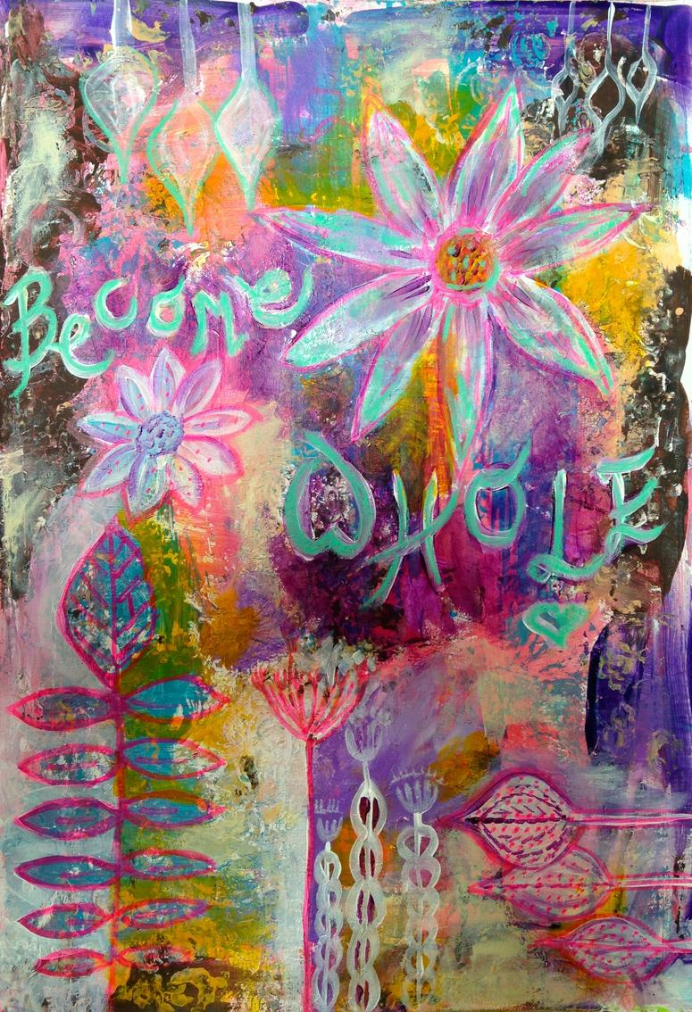 become whole art journal