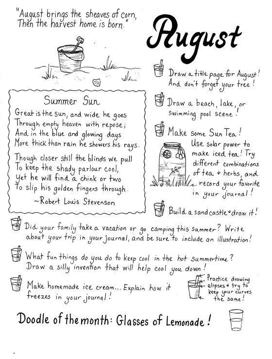 August art journalling
